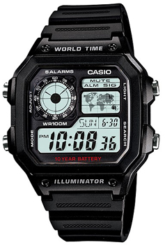 Наручные мужские часы Casio AE-1200WH-1A