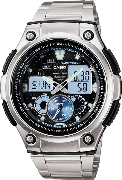 Наручные мужские часы Casio AQ-190WD-1A