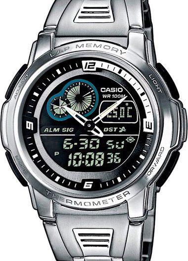 Наручные мужские часы Casio AQF-102WD-1B