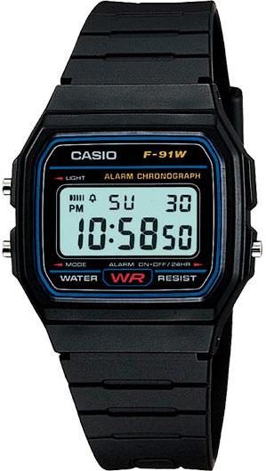 Наручные мужские часы Casio F-91W-1Q