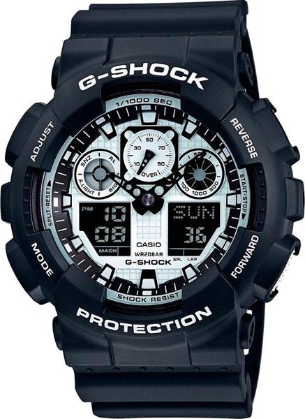 Наручные мужские часы Casio GA-100BW-1A