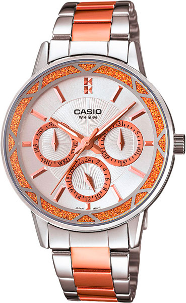 Наручные женские часы Casio LTP-2087RG-7A