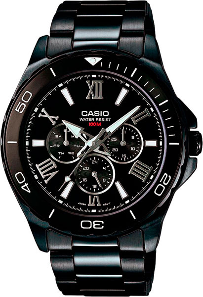 Наручные мужские часы Casio MTD-1075BK-1A1