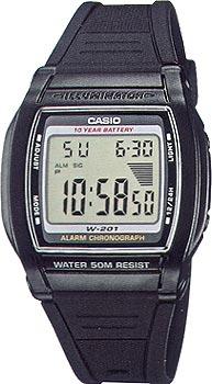 Наручные мужские часы Casio W-201-1A