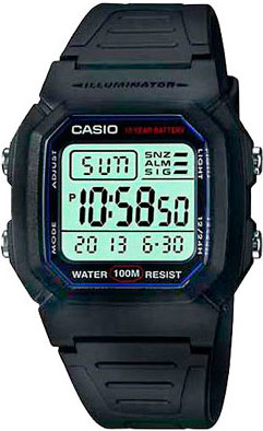 Наручные мужские часы Casio W-800H-1A